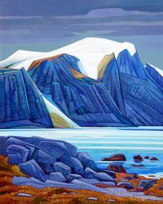 A collection of Paintings by Canadian Painter Nicholas Bott, but would make a beautiful quilt. Landscape Illustration, Landscape Art, Landscape Paintings, Illustration Art, Landscapes, Canadian Painters, Canadian Artists, Artist Art, Artist At Work