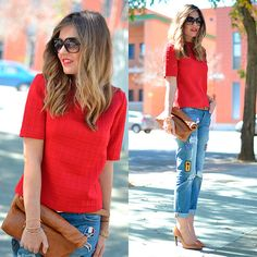 Check this outfit out at:  http://www.miaventuraconlamoda.com/2015/03/red.html   Follow me on: