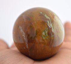 605 Cts For Healing Energy Huge Tiger Eye Gemstone Ball Stone Size 43 mm E306 #valueforbucks