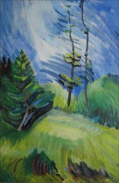 Gaiety, 1930s.  Emily Carr. Collection – Audain Art Museum Emily Carr Paintings, House Painter, Group Of Seven, Impressionist Art, Jackson Pollock, Canadian Artists, Art Lessons, Art Museum, Fine Art