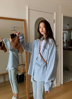 Winter Outfits, Casual Outfits, Cute Outfits, Fashion Outfits, Korea Fashion, Fashion Line, Neutral Outfit, Street Outfit, Korean Outfits