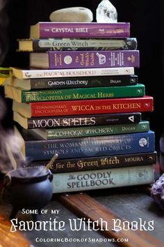 Check out this list of more favorite witchcraft books, spell books, and other witchy things to read. Check out this list of favorite witchcraft books, spell books, and other witchy things to read. Wiccan Books, Witchcraft Books, Wiccan Spells, Magic Spells, My Books, Spell Books, Eclectic Witch, Baby Witch, Spirituality Books