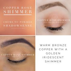 Copper Rose Shimmer Shadowsense By Senegence Copper Eyeshadow, Shimmer Eyeshadow, Makeup Collage, Senegence Makeup, Senegence Products, Lipsense Lip Colors, Shadow Sense, Copper Rose, Eye Brushes