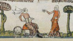 Wool carding. the Decretals of Gregory IX, Royal MS 10 E IV, c 1300-c 1340