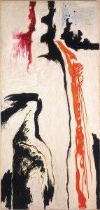 Clyfford Still September 1946 support:   60 x 27 1/2 inches Albright-Knox Art Gallery