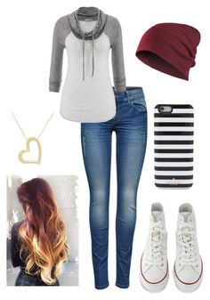 """""""Untitled #69"""" by haileywwe ❤ liked on Polyvore featuring ONLY, maurices, Converse and Kate Spade"""