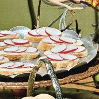 Radish-Chive Tea Sandwiches with Sesame and Ginger - Bon Appétit
