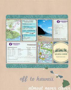 Hawaii Honeymoon Scrapbook Layout 6