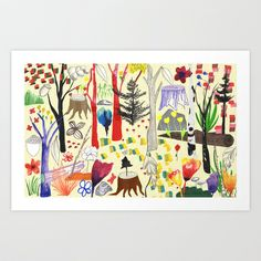 Magical Wood Art Print by Sandra Dieckmann - $18.00