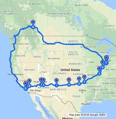 Historic Route 66 Road Trip - Travel tips - Travel tour - travel ideas Road Trip Map, Route 66 Road Trip, Travel Route, Rv Travel, Adventure Travel, Places To Travel, Travel Destinations, Road Trips, Travel Oklahoma