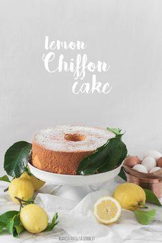 Lemon chiffon cake   Fluffosa ai limoni di Sicilia