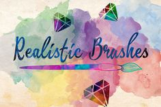 Check out Realistic Brushes + Free Action by Charles Perrault Artworks on Creative Market