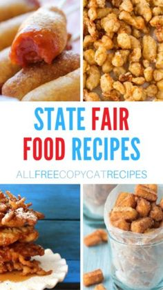 State Fair Party, State Fair Food, Carnival Eats Recipes, Carnival Food, Memorial Day Foods, Good Food, Yummy Food, Fun Food, State Foods
