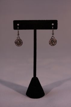 Silver dangle earrings. Mountain Laurel Boutique