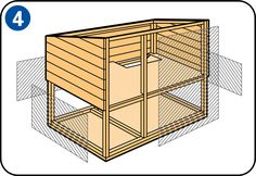 It's easy to build your own rabbit hutch. A good rabbit hutch provides shelter, is easy to clean and resists moisture. Rabbit Hutch Indoor, Rabbit Hutch Plans, Rabbit Hutches, Dwarf Rabbit, Rabbit Run, Mini Lop, Small Woodworking Projects, Woodworking Plans, Diy Paso A Paso
