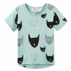 Envío gratis 2015 nuevo verano camiseta de los niños 100% Jersey de algodón allover gato impresión manga corta boy de bebés camisetas en Camisetas de La madre y Los Niños en AliExpress.com | Alibaba Group