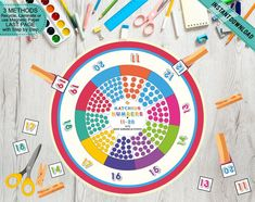 Fine Motor Kids Number Matching Wheel Game, Print Cut and Play Math Wheel, Busy Binder Activity, Pre-K Learning Tool, Printable DIY Number Activities, Number Games, Games For Kids, Activities For Kids, Middle Childhood, Numbers For Kids, Tent Cards, Preschool Printables, Learning Tools