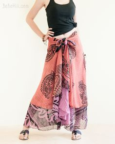 Unique Reversible Wrap Around Layered Gypsy Skirt Burning Man Outfits, Hippie Skirts, Gypsy Skirt, Wrap Around, Handmade Clothes, Boho Chic, Unique, Fashion, Diy Clothing