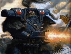 Space Wolves Tetminator in Cataphractii pattern armour during the Burning of Propero