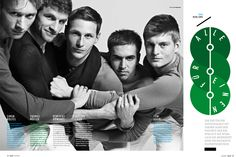 Simon Rolfes, Thomas Müller, Benedikt Höwedes, Philipp Lahm and Toni Kroos in GQ Deutschland