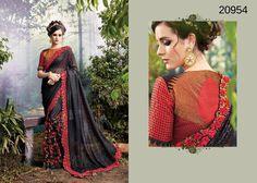 Saree Indian Dress Pakistani Partywear Wedding Bollywood Ethnic Sari Designer #TanishiFashion #DesignerSaree