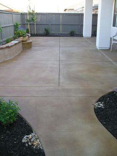 With a License We Specialize In Decorative Concrete With All Types Of Finish. - With a License We Specialize In Decorative Concrete With All Types Of Finishes, Colors and Textures Bringing Style To Outdoor Concrete Spaces Source by - Concrete Patios, Outdoor Concrete Stain, Colored Concrete Patio, Concrete Backyard, Concrete Patio Designs, Cement Patio, Small Backyard Patio, Backyard Patio Designs, Pergola Designs