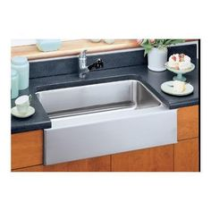 "The ""Farmers Sink"" from Elkay can add extra flair to a Farmhouse themed kitchen"
