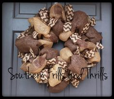 Burlap Wreath Rustic Wreath Paper Mesh Wreath by SouthernThrills, $50.00
