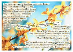 12 by 16 inches Frameable beautiful poetry & prose on quality 300gsm card with a variety of backgrounds and fonts on some of the items.