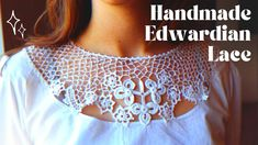 I'm never doing this again! || Historical Irish Crochet lace - YouTube Irish Crochet, Crochet Lace, Lace Collar, Crochet Clothes, Collars, Sewing, Knitting, Pattern, Handmade