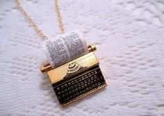 Must. Have. Typewriter. Necklace!!!!