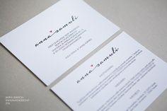 Hääkutsut » Makea Design // Valokuvaus / Graafinen suunnittelu