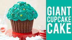 How to Make a Giant Cupcake Cake - YouTube