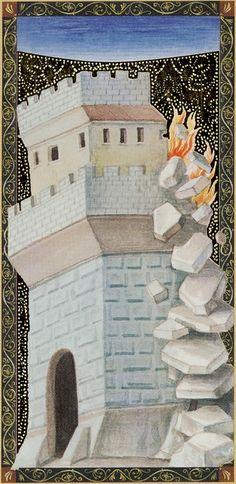 The Tower - Golden Tarot of the Renaissance