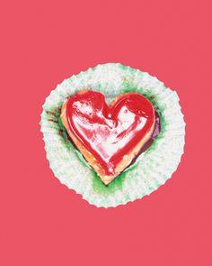 #heart shaped #cupcake wall mural for your #homedecor  #art #artforsale #wallmurals #interiordecor #interiordecorideas #interiordecortips #homedesign #decor #sweets #cake #pastry #kitchendecor