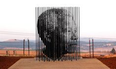 The new Mandela Monument in Howick, KZN, commemorating the 50th anniversary of Mandela's capture. The sculpture comprises of 50 steel vertical bars which represent his imprisonment ... I think its stunning :)