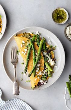 Asparagus, Pesto and Feta Omelette - Cupful of Kale