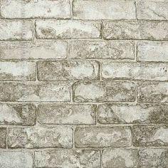 Papel de parede Decoração Tijolinho Origini 14-33 , Wallpaper, Importado, Lavável, Superfície Lisa, Cinza e Bege