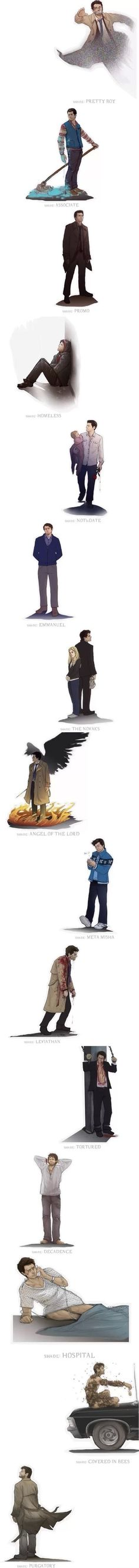 The many shades of Castiel