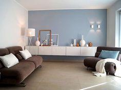 Moderne Wohntrends Schaffen Ein Stylisches Und Schickes Wohnzimmer. Alpina  Feine Farben: Inspirationsboard Steinblaue Schönheit Von Susanne ...