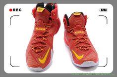 Cheap Sale Nike Lebron 12 Cheap sale Black Red White 684593 908
