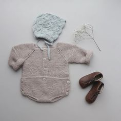 Bilde av Knapperomper - My Knits And Baby Knitting, Romper, Pullover, Photo And Video, Hoodies, Children, Crochet, Knits, Creative
