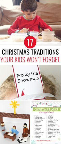 17 New Christmas Traditions Your Kids Will Always Remember If you're looking for some fun, new Christmas traditions to start with your family this year, here are a bunch to choose from! Christmas Traditions Kids, Christmas Crafts For Kids, Christmas Snowman, All Things Christmas, Christmas Holidays, Holiday Crafts, Christmas Decor, Outdoor Christmas, Christmas Advent Ideas