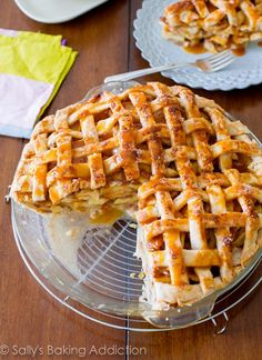 A twist on the classic Apple Pie - Salted Caramel Apple Pie paired with Riesling!