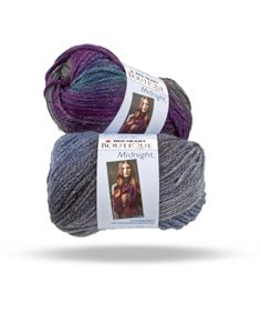Elegant and subtle changing colors with a dash of trendy metallic make this yarn wonderful for accessories and garments alike.