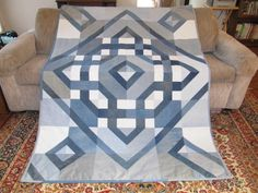 Very good idea to use old jeans for this quilt pattern.  I've done rag quilts with denim, but this is amazing.