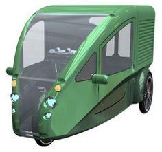 O Organic Transit Vehicle é um Elf, carro movido de...