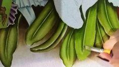 Pintura em tecido - Ana Ferrante - Folhas de orquídeas  - Vídeo 1
