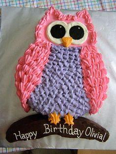 Owl Birthday Cakes for Girls