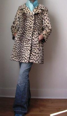 Cheetah vintage coat